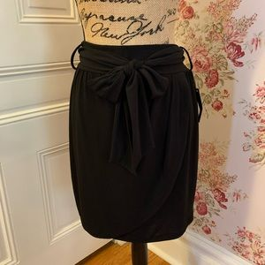 🌵 NWT I ❤️ Ronson Black Faux Wrap Skirt